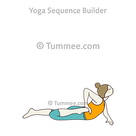 half frog pose yoga ardha bhekasana  yoga sequences
