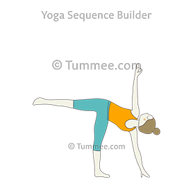 half moon pose yoga ardha chandrasana  yoga sequences