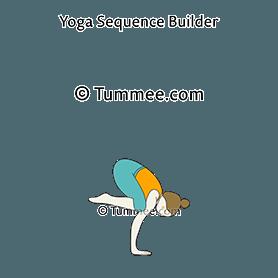 one legged crane pose yoga eka pada bakasana  yoga