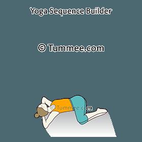reclining eagle spinal twist pose yoga supta parivrtta