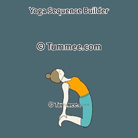 camel pose variation toes yoga ustrasana variation toes
