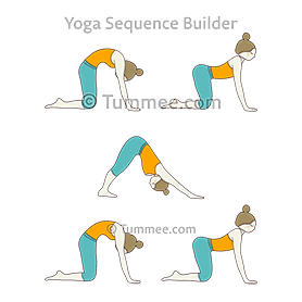cat cow pose downward facing dog pose flow yoga