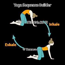 cat cow pose variation wide legged yoga bitilasana