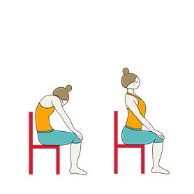 Chair Cat Cow Pose (Chair Marjaryasana Bitilasana)
