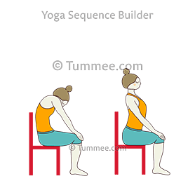 how to do chair marjaryasana bitilasana  tummee