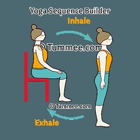 chair mountain pose standing flow yoga chair tadasana