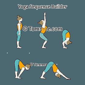 chair pose downward facing dog pose flow yoga vinyasa