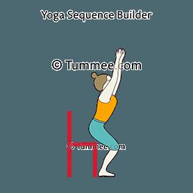 how to do utkatasana hovering above chair  tummee