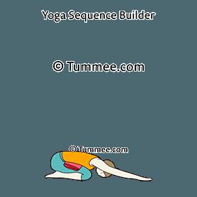 child pose belly blanket yoga balasana belly blanket