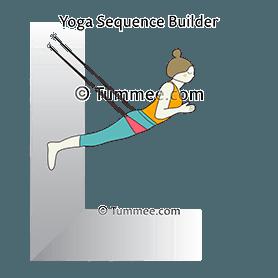 cobra pose wall rope bhujangasana wall rope variations