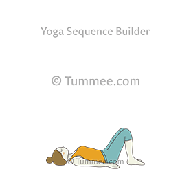 constructive rest pose yoga savasana variation bent legs