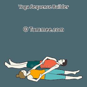 corpse pose partner yoga savasana partner  yoga