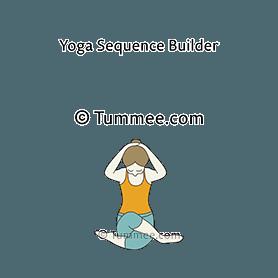 how to do gomukhasana variation hands on head neck bent