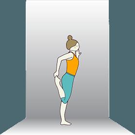 Dancer Pose Preparation Wall (Natarajasana Preparation Wall)