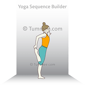 Dancer Pose Preparation Wall Yoga Natarajasana Preparation Wall Yoga Sequences Benefits Variations And Sanskrit Pronunciation Tummee Com