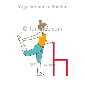 Dancer Pose With Chair Yoga Natarajasana With Chair Yoga Sequences Benefits Variations And Sanskrit Pronunciation Tummee Com