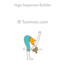 Standing Yoga Seal Pose Yoga Dandayamana Yoga Mudrasana Yoga Sequences Benefits Variations And Sanskrit Pronunciation Tummee Com