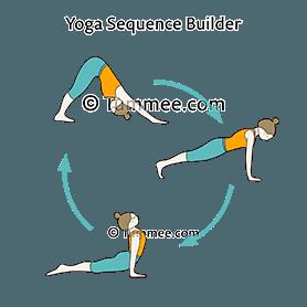 downward dog pose upward dog pose flow yoga adho mukha