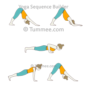 downward facing dog pose four limbed staff pose flow yoga
