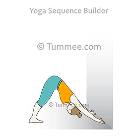 downward facing dog pose hands to wall yoga adho mukha