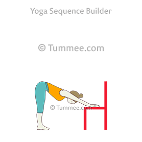 downward facing dog pose variation chair yoga adho mukha