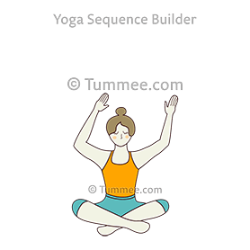 easy pose arms sway yoga sukhasana hasta sway  yoga