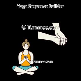 easy pose hands heart thumbs interlock yoga sukhasana