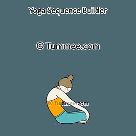 seated cat cow pose yoga upavistha bitilasana