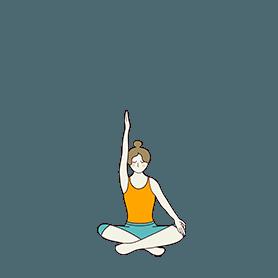 Easy Pose Variation Arm Up (Sukhasana Variation Arm Up)