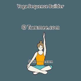 easy pose variation arm up yoga sukhasana variation arm
