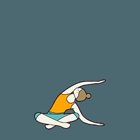 Easy Pose Variation Side Bend (Sukhasana Variation Side Bend)