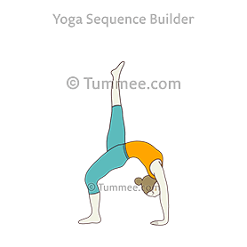 eka pada urdhva dhanurasana yoga onelegged wheel pose