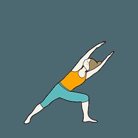 Extended Side Angle Pose Variation Both Arms Raised (Utthita Parsvakonasana Variation Both Arms Raised)