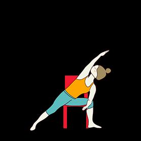 Extended Side Angle Pose Variation Elbow Arm Chair (Utthita Parsvakonasana Variation Elbow Arm Chair)