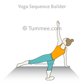 fallen triangle pose variation yoga patita tarasana