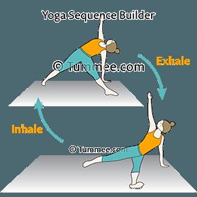 fallen triangle pose variation flow yoga patita tarasana