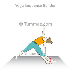 fallen triangle pose variation leg movement yoga patita