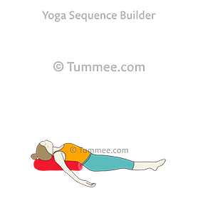 how to do matsyasana bolster  tummee