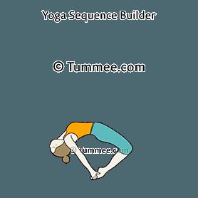 floating camel pose yoga ustrasana variation 2  yoga