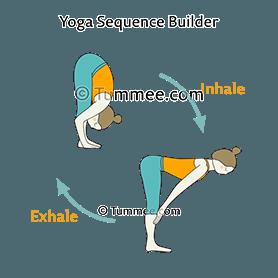 forward fold flow yoga uttanasana vinyasa  yoga