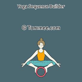 garland pose on wheel yoga malasana on wheel  yoga