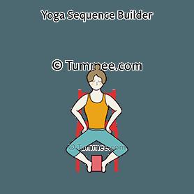 goddess pose chair feet holding block yoga utkata