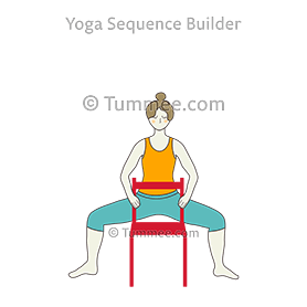 how to do utkata konasana holding chair  tummee