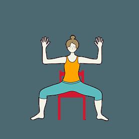 Goddess Pose On Chair (Utkata Konasana On Chair)