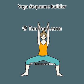 goddess pose eagle arms yoga utkata konasana garudasana