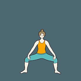 Goddess Pose Variation Hands (Utkata Konasana Variation Hands)