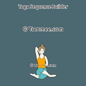 gomukhasana yoga cow face pose  yoga sequences