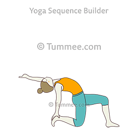 half camel pose on toe one leg in front yoga ardha