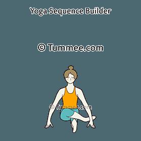 revolved shoelace pose yoga  yoga sequences benefits