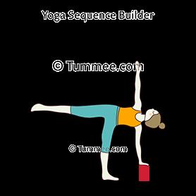 half moon pose block yoga ardha chandrasana block  yoga
